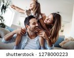 happy family having fun time at ... | Shutterstock . vector #1278000223