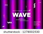 3d distorted wave lines.... | Shutterstock .eps vector #1278002530