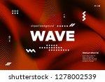 3d poster with wave stripes.... | Shutterstock .eps vector #1278002539