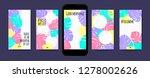 pastel tropic frames for... | Shutterstock .eps vector #1278002626