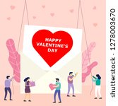 heart in large envelop and... | Shutterstock .eps vector #1278003670