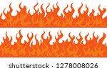 cartoon fire flame frame...   Shutterstock .eps vector #1278008026