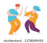 couple of spontaneous dancing... | Shutterstock .eps vector #1278009433