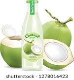 a bottle of taste coconut... | Shutterstock .eps vector #1278016423