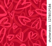 seamless romantic pattern with... | Shutterstock .eps vector #1278019186