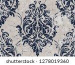 vector damask seamless pattern...   Shutterstock .eps vector #1278019360