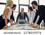 business people working... | Shutterstock . vector #1278019576