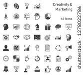 creativity marketing icon set | Shutterstock .eps vector #1278022786