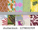 collection of seamless patterns.... | Shutterstock .eps vector #1278031939