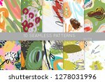collection of seamless patterns.... | Shutterstock .eps vector #1278031996