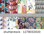 collection of seamless patterns....   Shutterstock .eps vector #1278032020