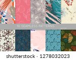 collection of seamless patterns.... | Shutterstock .eps vector #1278032023