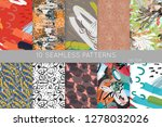 collection of seamless patterns.... | Shutterstock .eps vector #1278032026