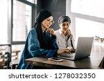 two muslim girlfriends in... | Shutterstock . vector #1278032350