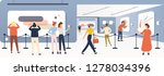 exhibition visitors  tourists... | Shutterstock .eps vector #1278034396