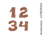 numbers 1 2 3 4  english... | Shutterstock . vector #1278039433