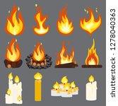 fire light effect  flames... | Shutterstock . vector #1278040363
