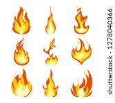 fire light effect  flames set... | Shutterstock . vector #1278040366