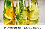 bottled fruit detoxes. | Shutterstock . vector #1278055789