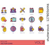 resume icons including... | Shutterstock .eps vector #1278056446