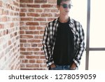 hipster teenage guy wearing... | Shutterstock . vector #1278059059