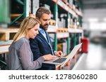 a portrait of an industrial man ... | Shutterstock . vector #1278060280
