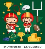 an image set of many object... | Shutterstock .eps vector #1278060580