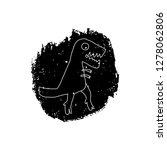 hand drawn dinosaur. jurassic... | Shutterstock .eps vector #1278062806