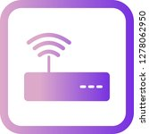 vector wifi icon  | Shutterstock .eps vector #1278062950