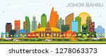 johor bahru malaysia city... | Shutterstock .eps vector #1278063373