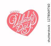 happy valentines day typography ... | Shutterstock .eps vector #1278069760
