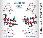 glucose  dextrose  d glucose ... | Shutterstock .eps vector #1278079549