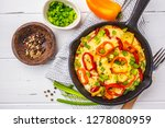 traditional fritatta with... | Shutterstock . vector #1278080959