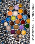 metal cans with color paint | Shutterstock . vector #1278094030