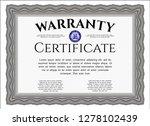 grey retro warranty certificate ... | Shutterstock .eps vector #1278102439