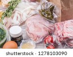 healthy daily meals delivery.... | Shutterstock . vector #1278103090