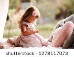 cute baby girl 2 3 year old... | Shutterstock . vector #1278117073