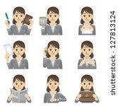 business woman | Shutterstock .eps vector #127813124