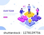 our team concept with puzzle.... | Shutterstock .eps vector #1278139756