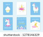 kids slumber and birthday party ... | Shutterstock .eps vector #1278146329