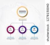 business hierarchy organogram... | Shutterstock .eps vector #1278150040