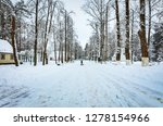 snow covered winter road... | Shutterstock . vector #1278154966
