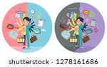 a set of doctor man who perform ...   Shutterstock .eps vector #1278161686