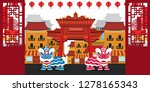 happy chinese new year 2019.... | Shutterstock .eps vector #1278165343