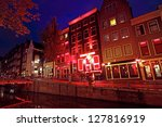red light district in amsterdam ... | Shutterstock . vector #127816919