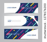banner with flat geometric... | Shutterstock .eps vector #1278176203
