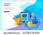 concept landing page template....   Shutterstock .eps vector #1278178339
