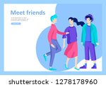 landing page templates. vector... | Shutterstock .eps vector #1278178960