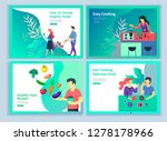 landing page templates with...   Shutterstock .eps vector #1278178966