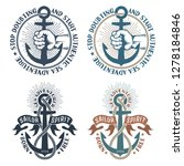 sea pirate nautical logos with...   Shutterstock . vector #1278184846
